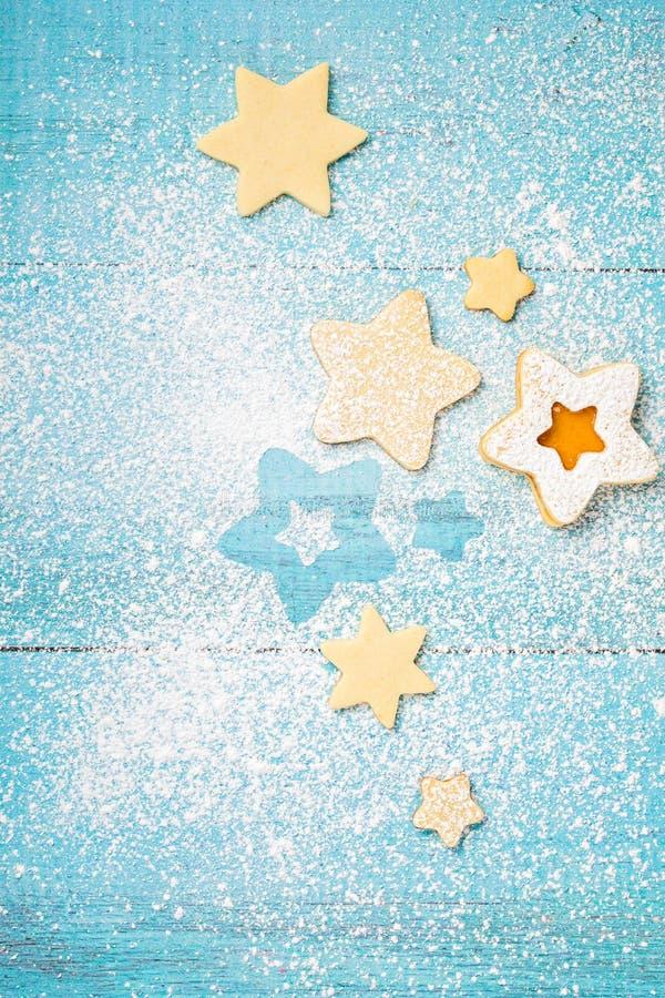 Cookies de Linzer do doce do abricó fotografia de stock royalty free