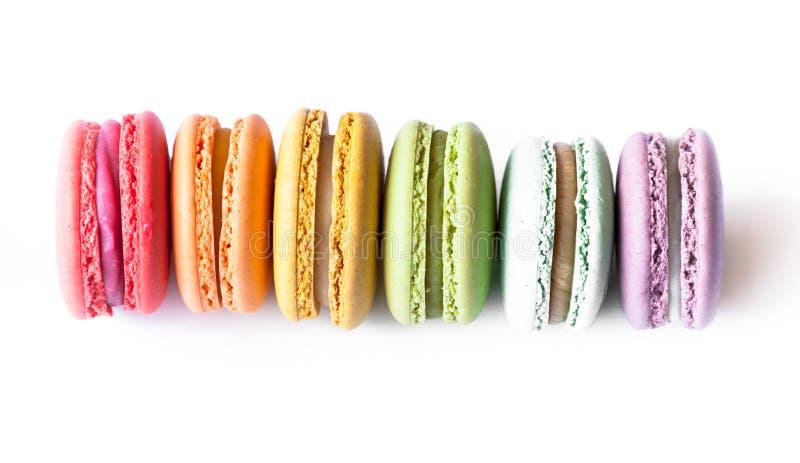 Cookies de Macaron do francês imagens de stock royalty free