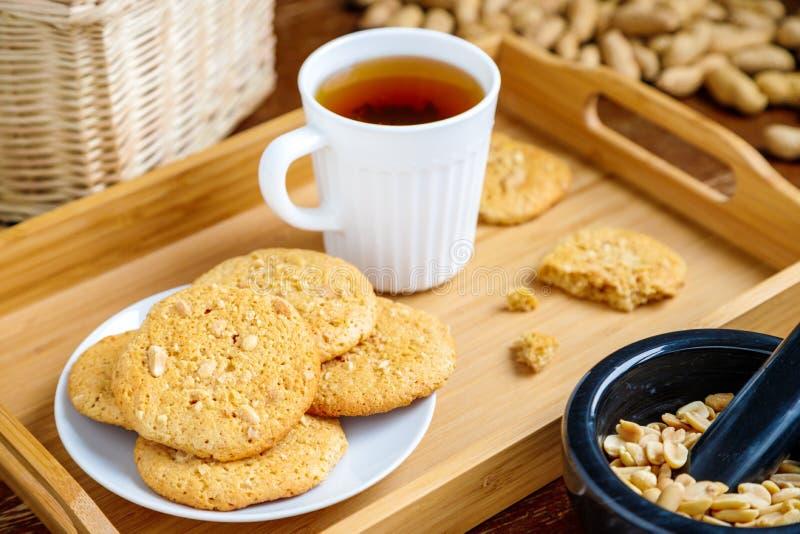 Cookies de manteiga do amendoim fotografia de stock royalty free