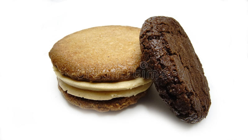 Cookies de manteiga dos amendoins fotos de stock royalty free
