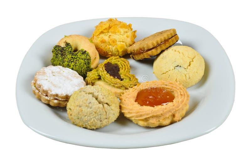 Cookies deliciosas da variedade fotografia de stock