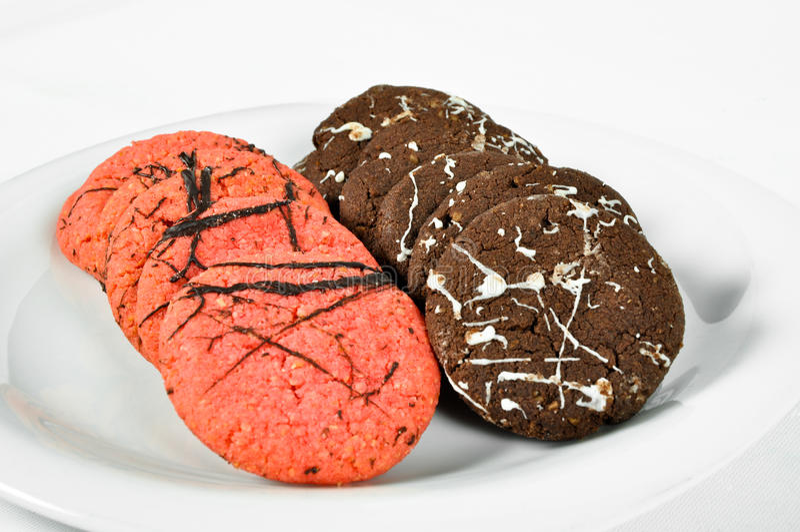 Cookies deliciosas da variedade fotos de stock