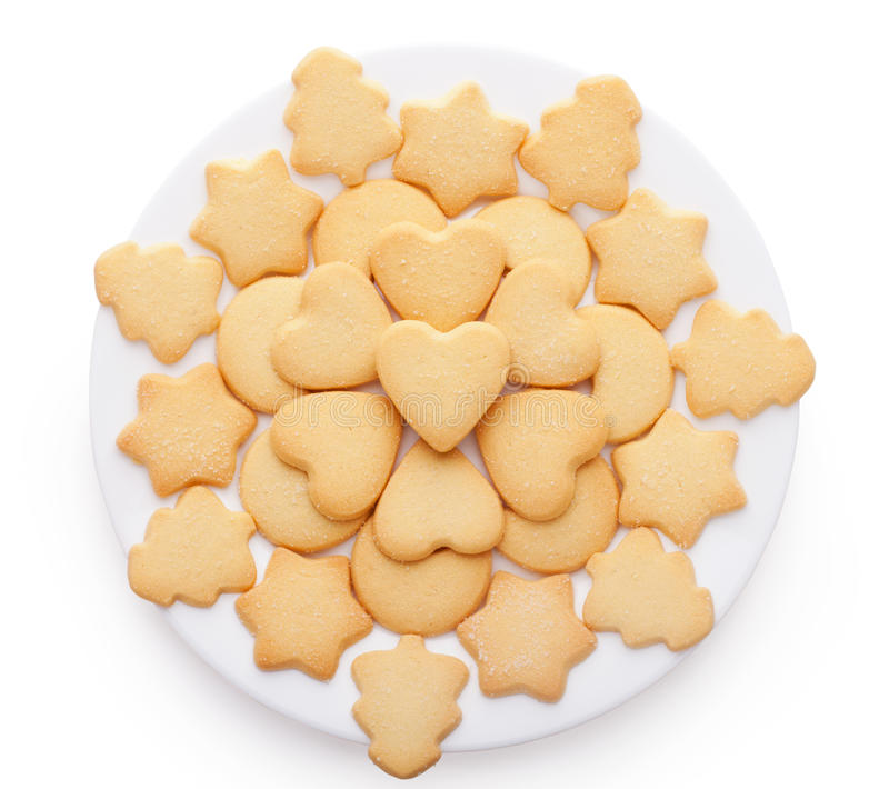 Cookies With Different Shapes On Plate Stock Photo