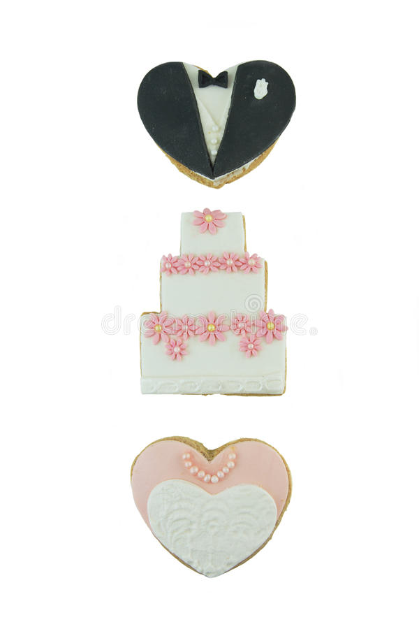 Cookies do casamento foto de stock
