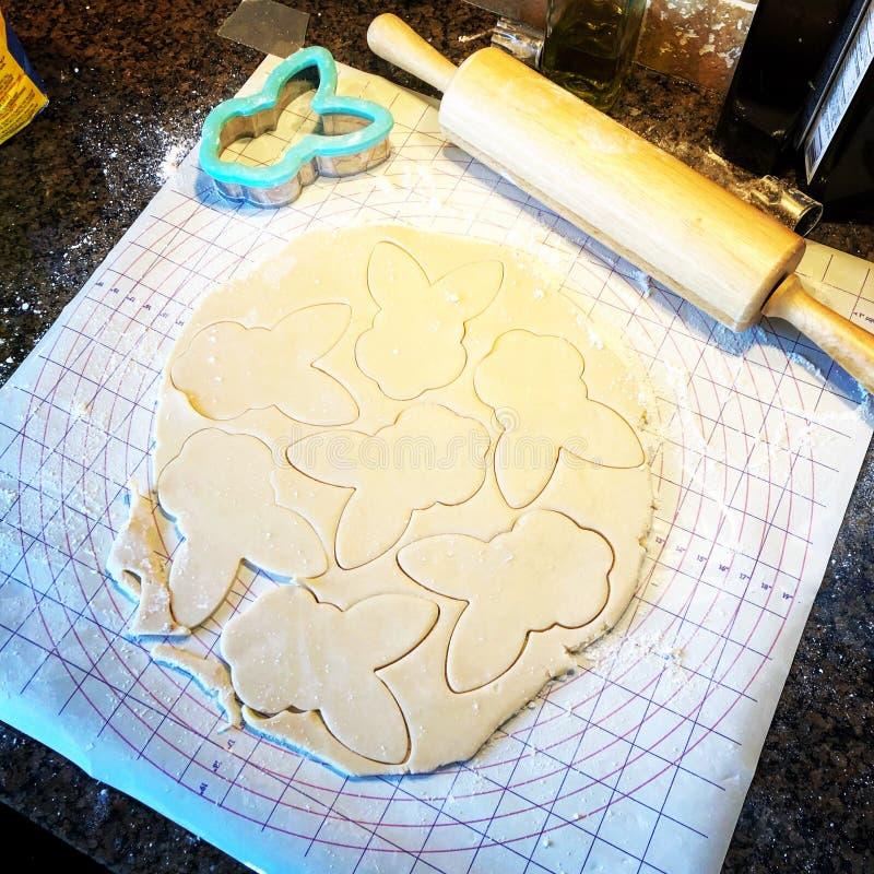 Cookies do coelhinho da P?scoa imagem de stock