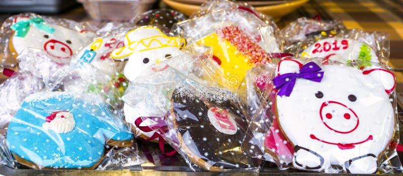 Cookies do feriado sob a forma dos animais imagens de stock