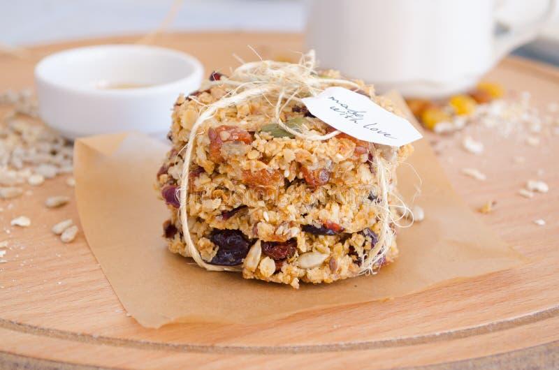 Cookies do Granola foto de stock royalty free