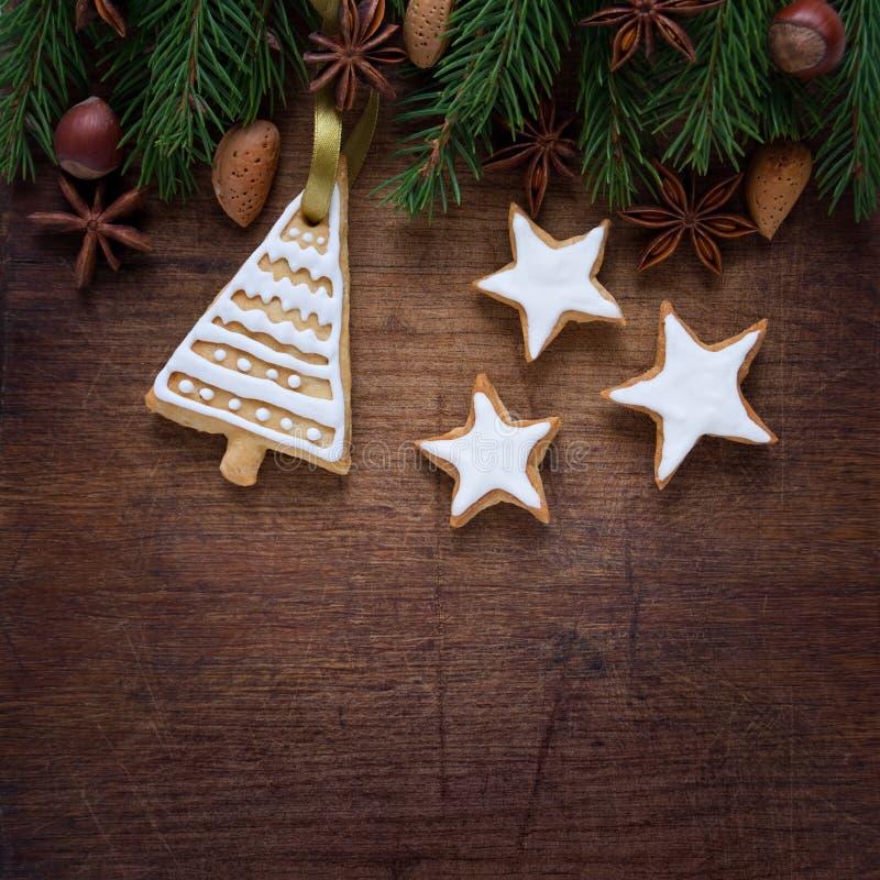 Cookies do Natal imagens de stock royalty free