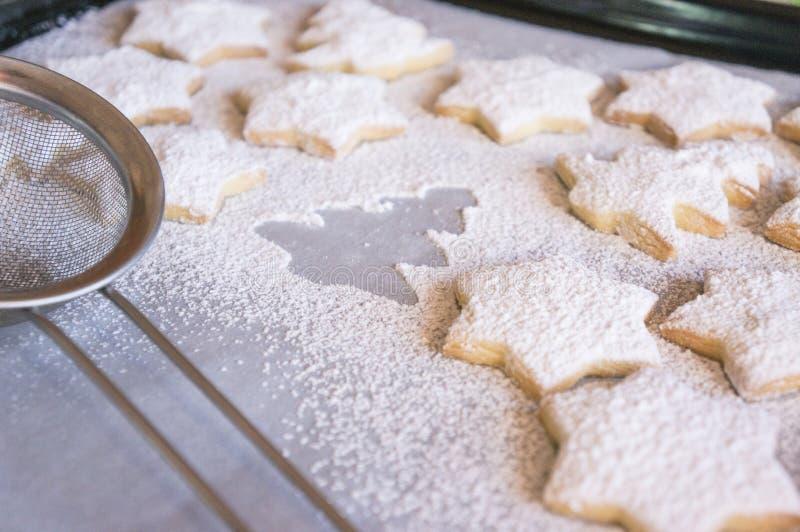 Cookies do Natal da baunilha imagens de stock