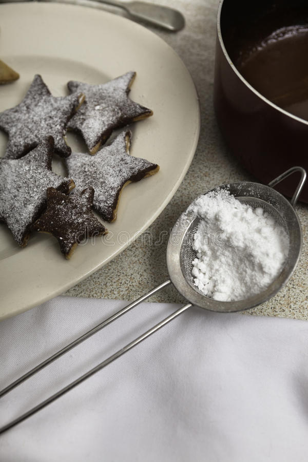 Cookies do Natal na tabela foto de stock royalty free