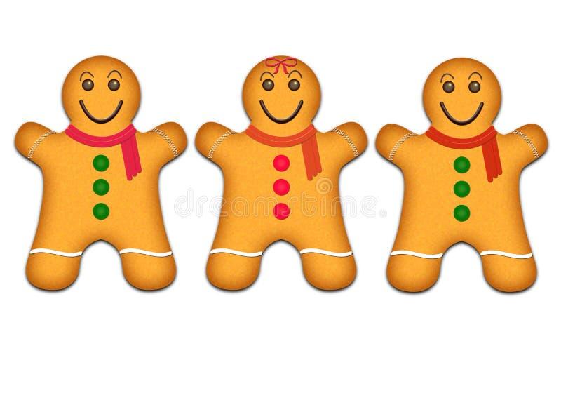 Cookies do pão-de-espécie ilustração do vetor
