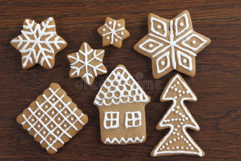 Cookies do pão-de-espécie fotografia de stock royalty free
