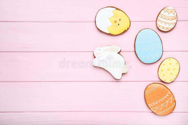 Cookies do pão-de-espécie da Páscoa fotos de stock royalty free