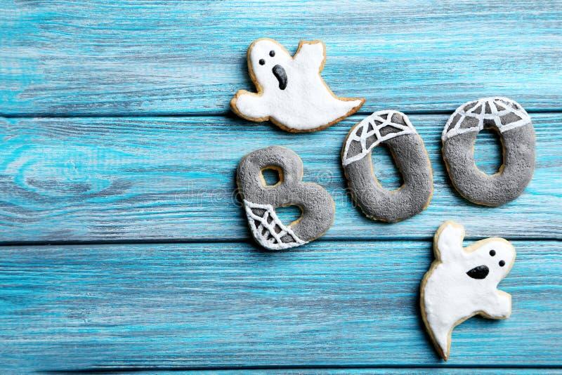 Cookies do pão-de-espécie de Dia das Bruxas imagem de stock royalty free