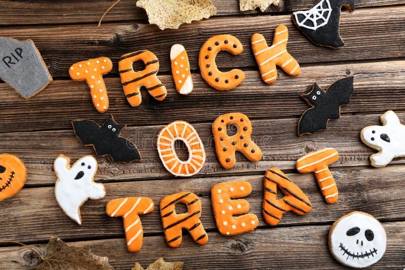 Cookies do pão-de-espécie de Dia das Bruxas fotos de stock
