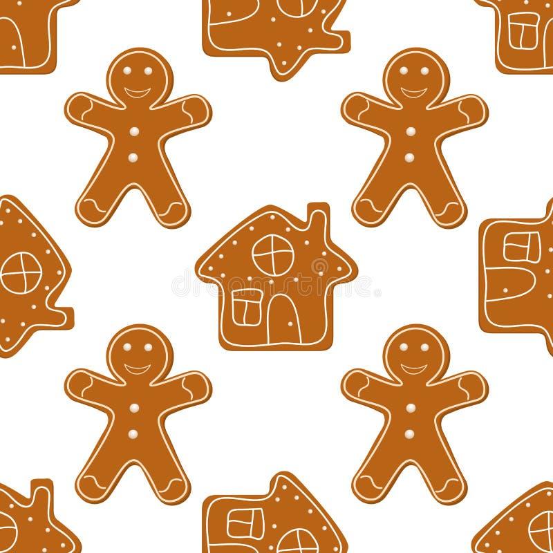 Cookies do pão-de-espécie sem emenda ilustração stock