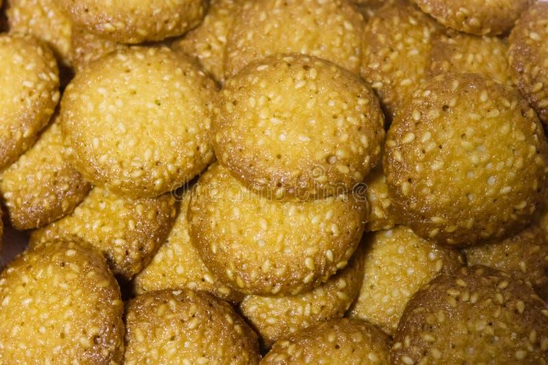 Cookies do sésamo imagens de stock