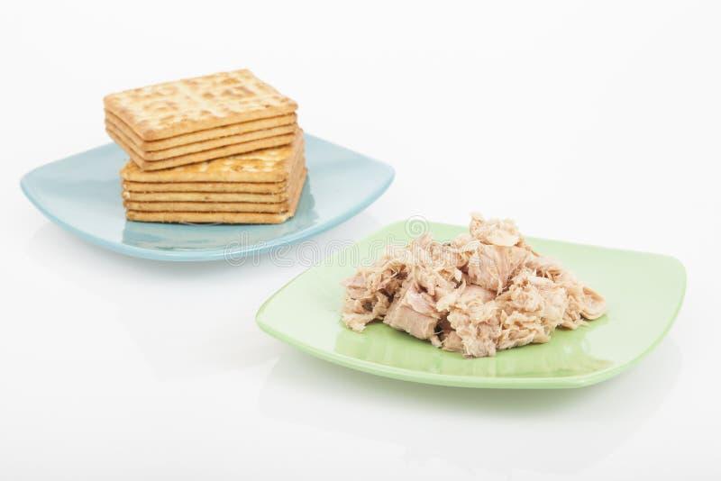 Cookies do sal com atum fotografia de stock royalty free