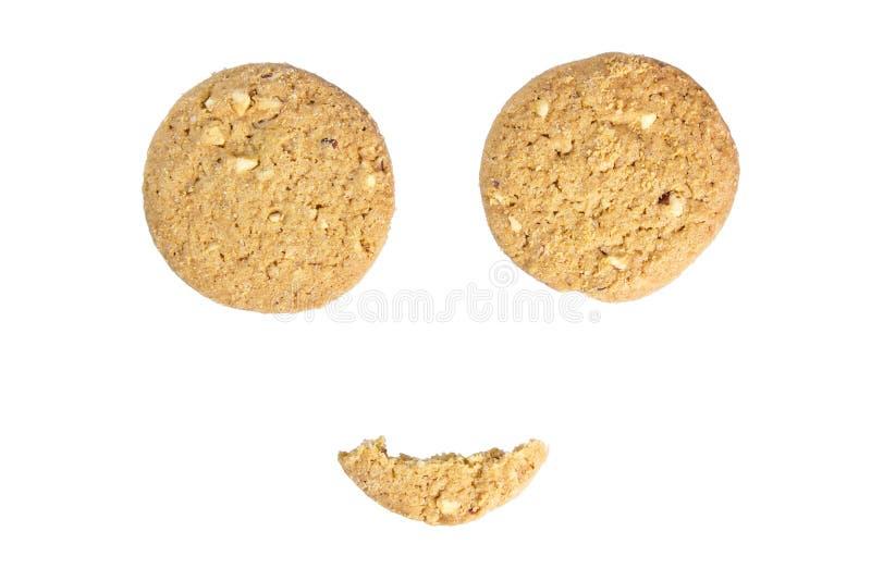 Cookies do smiley fotografia de stock royalty free