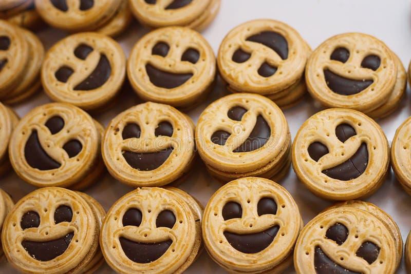 Cookies do smiley imagem de stock
