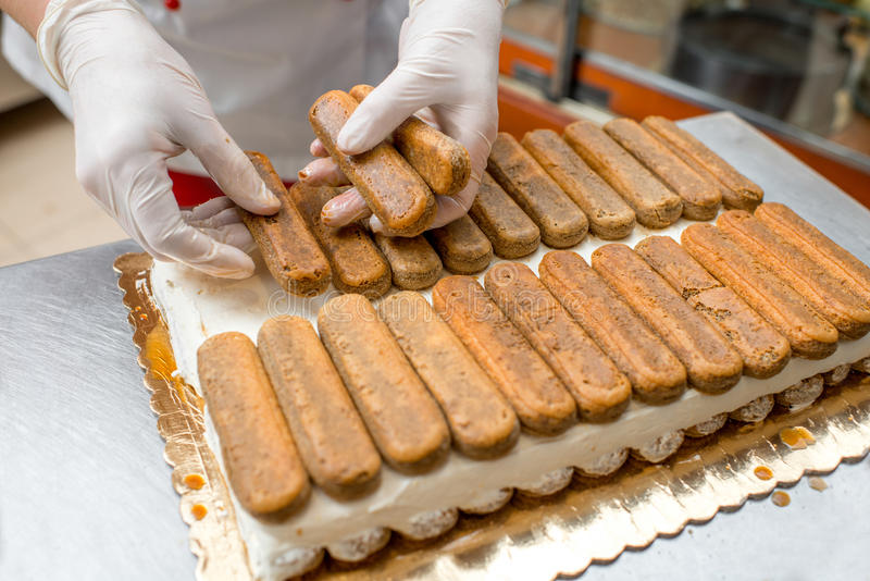 Cookies do Tiramisu fotografia de stock
