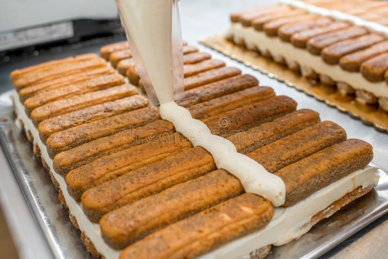Cookies do Tiramisu imagem de stock royalty free