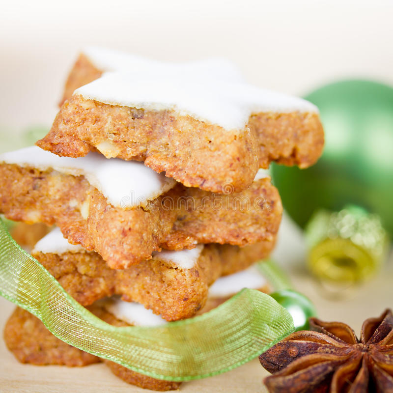 Cookies do Xmas imagens de stock