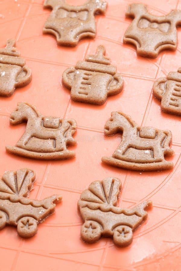 Cookies doces para o partido de festa do bebê imagem de stock