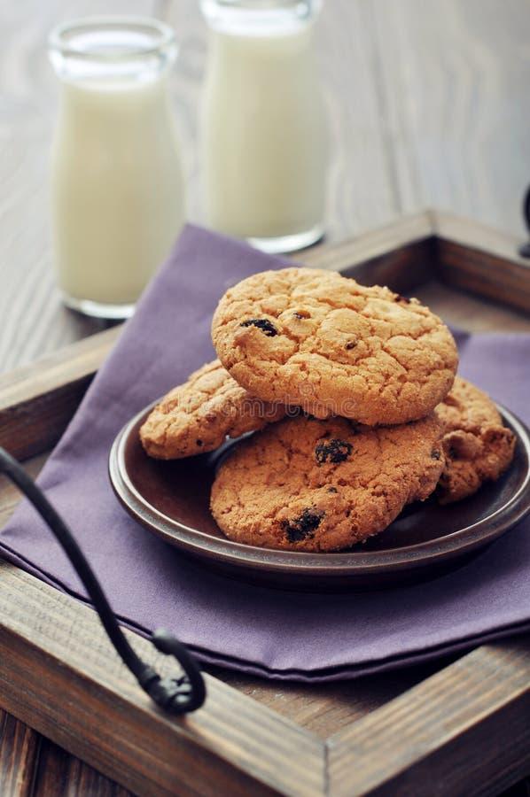 Cookies dos pedaços de chocolate fotos de stock