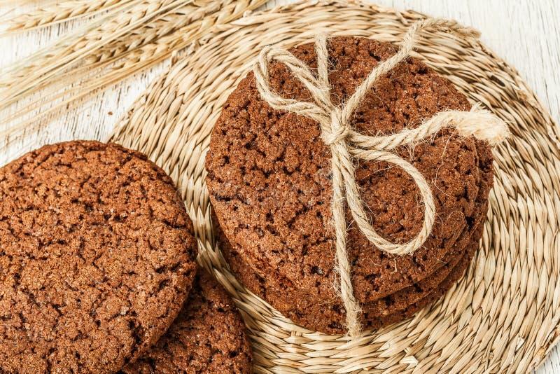 Cookies e trigo da aveia imagens de stock royalty free