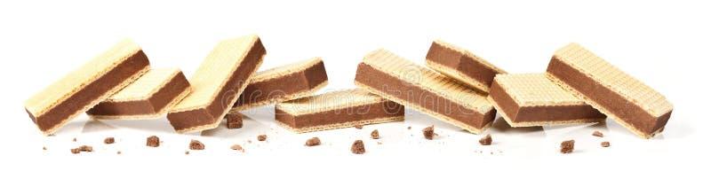Cookies enchidas chocolate fotografia de stock royalty free