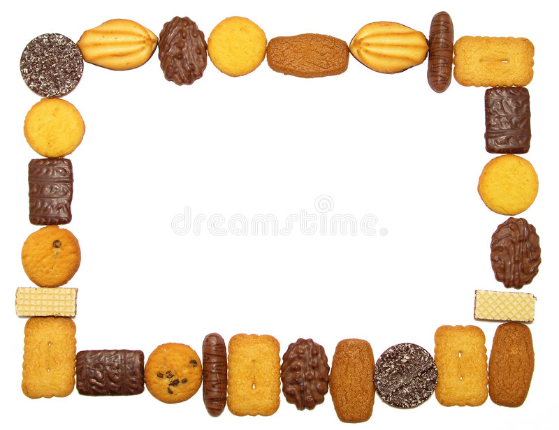 Cookies Frame royalty free stock image