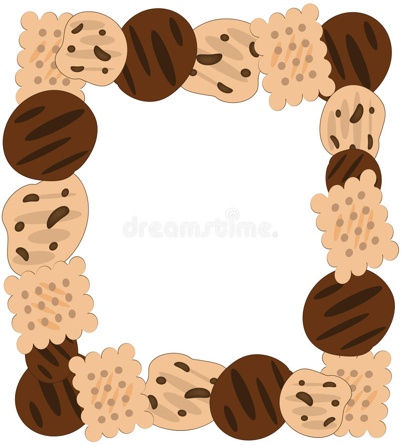 Cookies Frame royalty free illustration