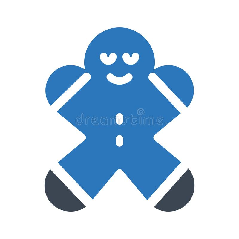 Cookies glyph color flat vector icon vector illustration