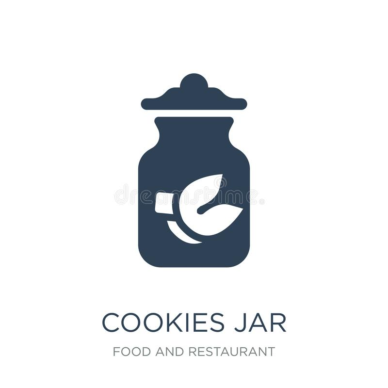 Cookies jar icon in trendy design style. cookies jar icon isolated on white background. cookies jar vector icon simple and modern. Flat symbol for web site royalty free illustration