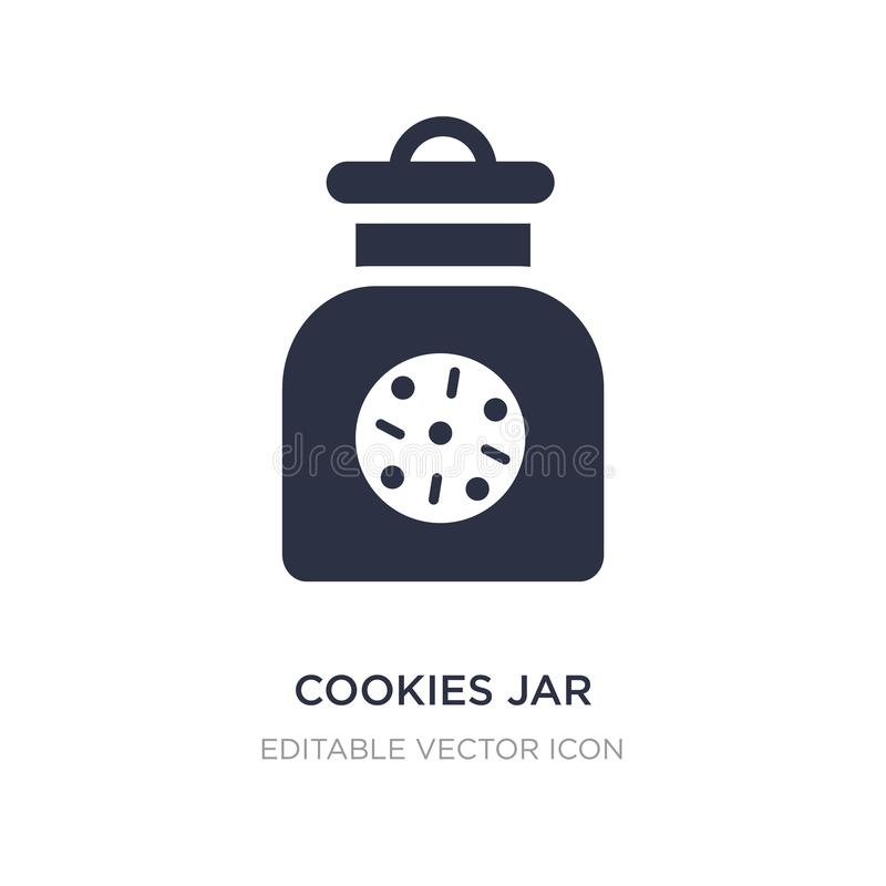 Cookies jar icon on white background. Simple element illustration from Food and restaurant concept. Cookies jar icon symbol design vector illustration