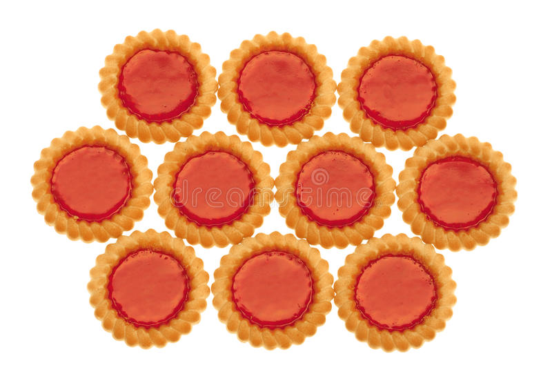 Cookies with marmalade royalty free stock photo