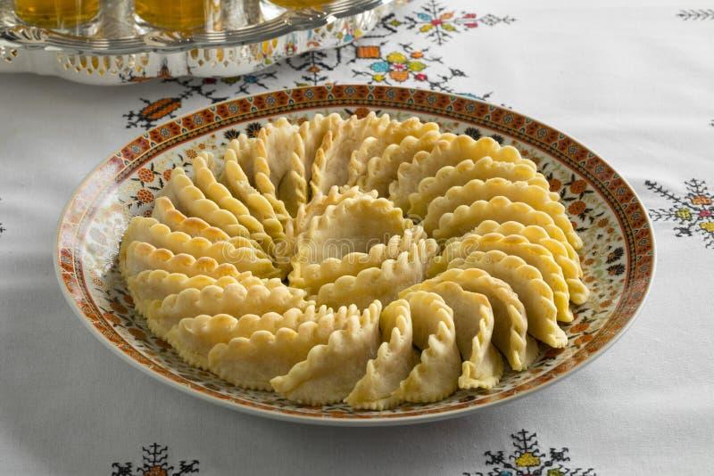 Cookies marroquinas festivas tradicionais da gazela imagem de stock royalty free