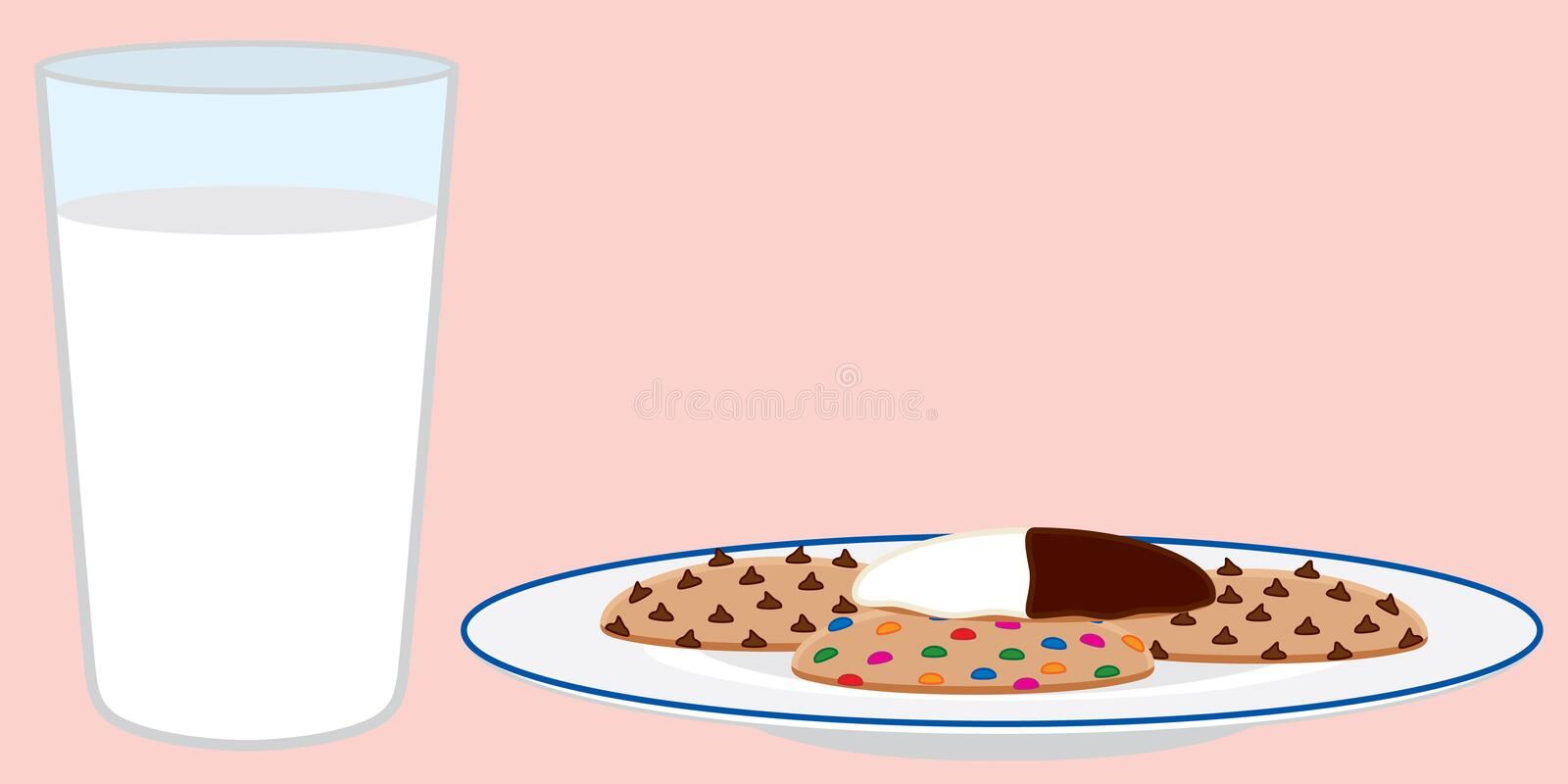 Cookies and Milk royalty free illustration
