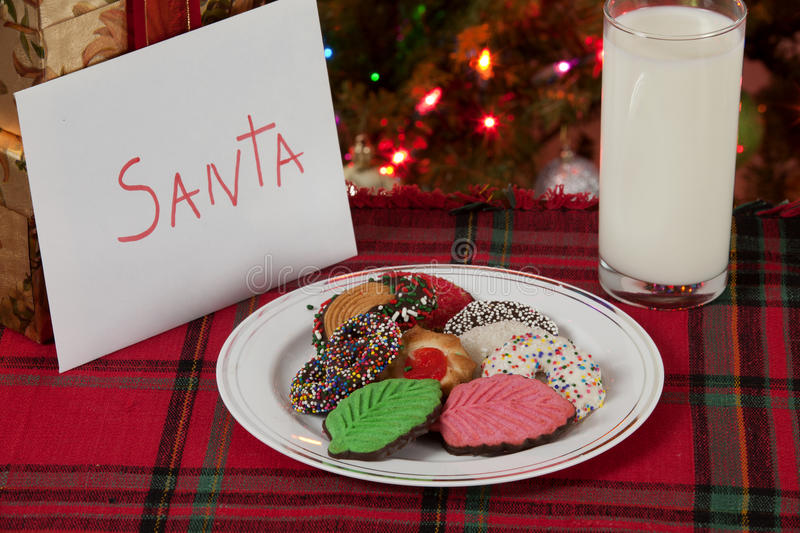 Download Cookies and Milk for Santa stock photo. Image of nobody - 28328020