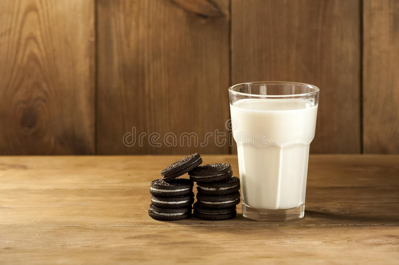 Cookies and milk. A sweet dessert stock photos