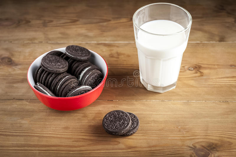 Cookies and milk. A sweet dessert royalty free stock image