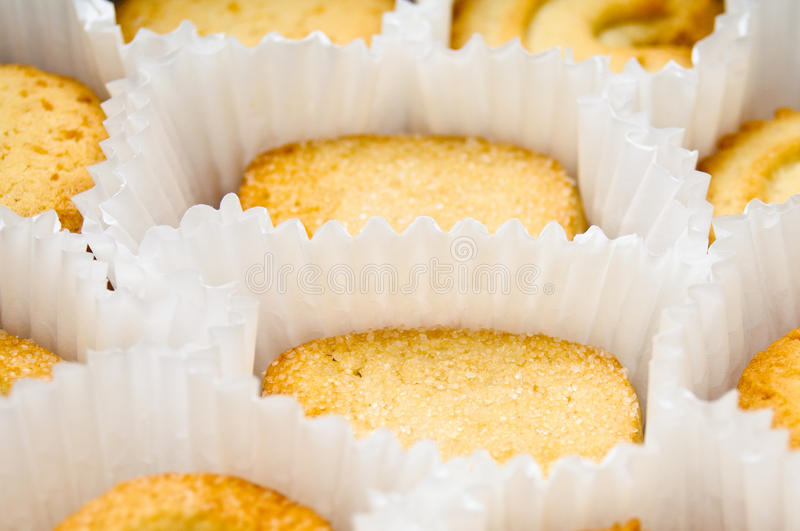 Cookies in muffin cups, angled