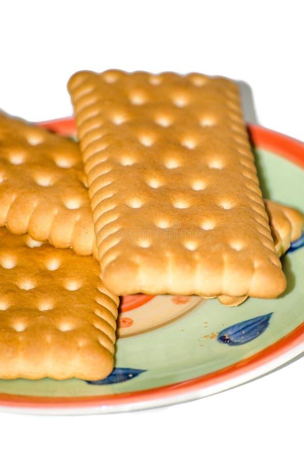 Cookies no fundo branco isolado pires foto de stock