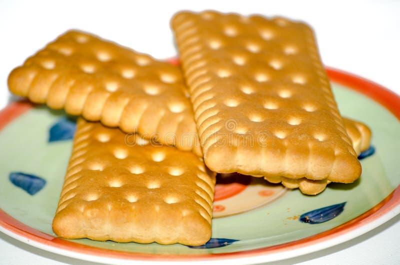 Cookies no fundo branco isolado pires fotografia de stock