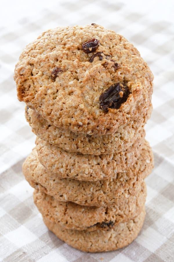 cookies oatmeal raisin arkivfoton