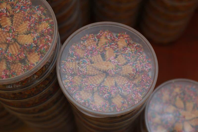 Cookies para Eid Mubarak imagens de stock
