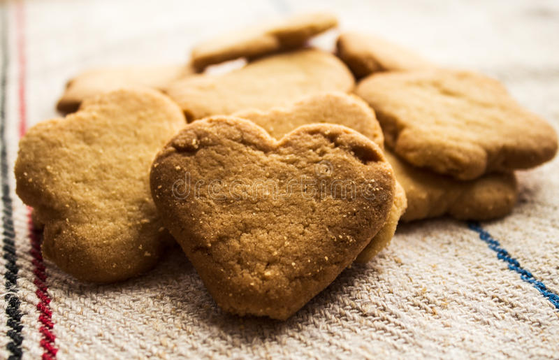 Cookies pastry biscuit heart shaped stock images