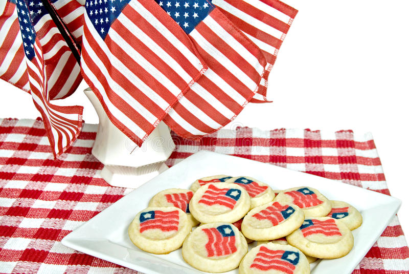Cookies patrióticas da bandeira fotografia de stock