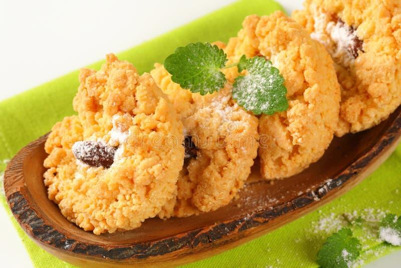 Cookies pequenas da migalha da amêndoa imagem de stock